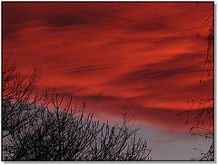 Quand le ciel se fait rouge dès que l'automne est mort ...