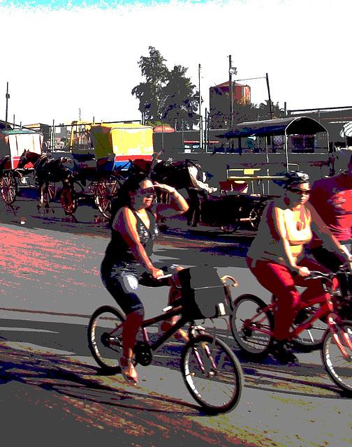 Calèche et Vélos / Bikes and carriage - 13 mars 2012 / Recadrage postérisé