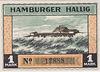 Notgeld 1 Mark, Hamburger Hallig