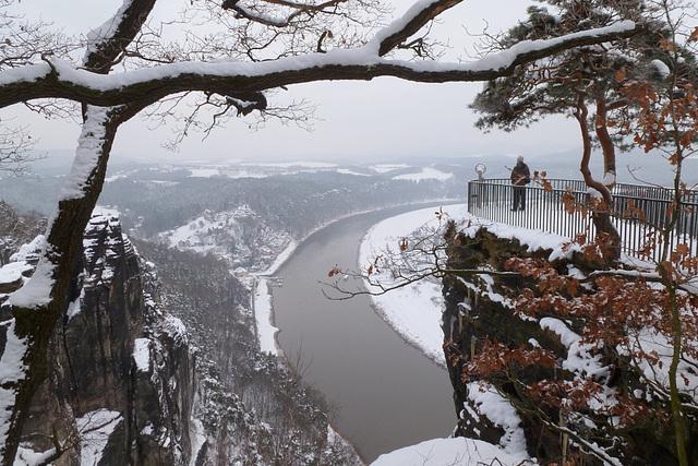 Bastei im Januar 2013