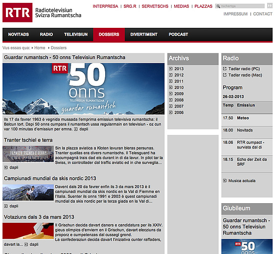 Portalo Radiotelevisiun Svizra Rumantscha RTR