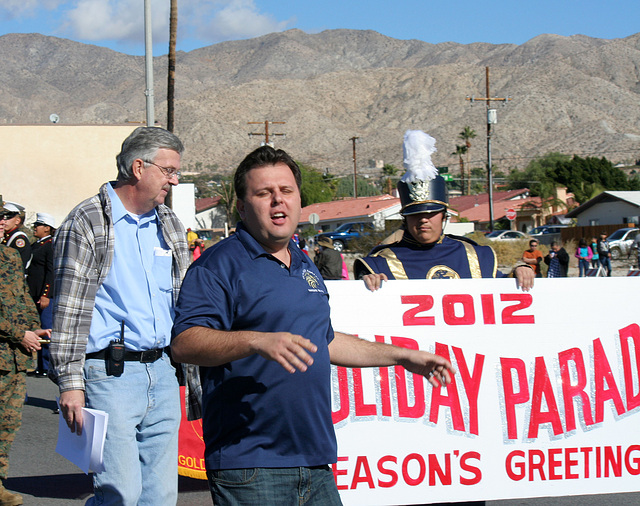 DHS Holiday Parade 2012 - Dr. Brian McDaniel (7533)