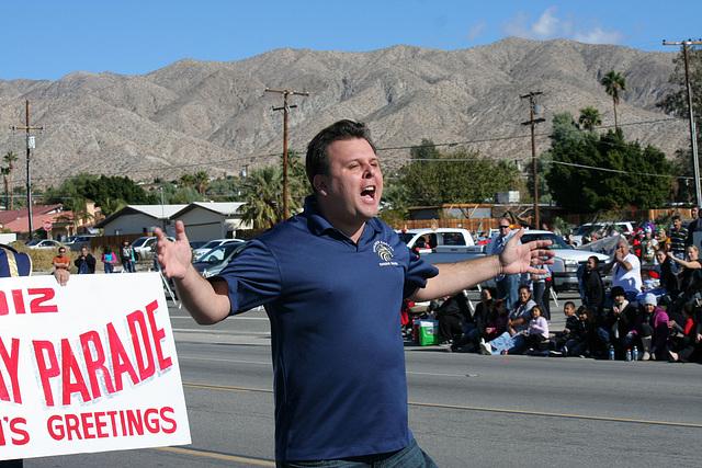 DHS Holiday Parade 2012 - Dr. Brian McDaniel (7538)