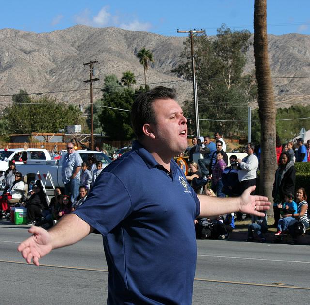 DHS Holiday Parade 2012 - Dr. Brian McDaniel (7540)