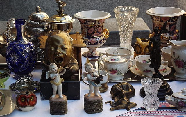 antiques on display
