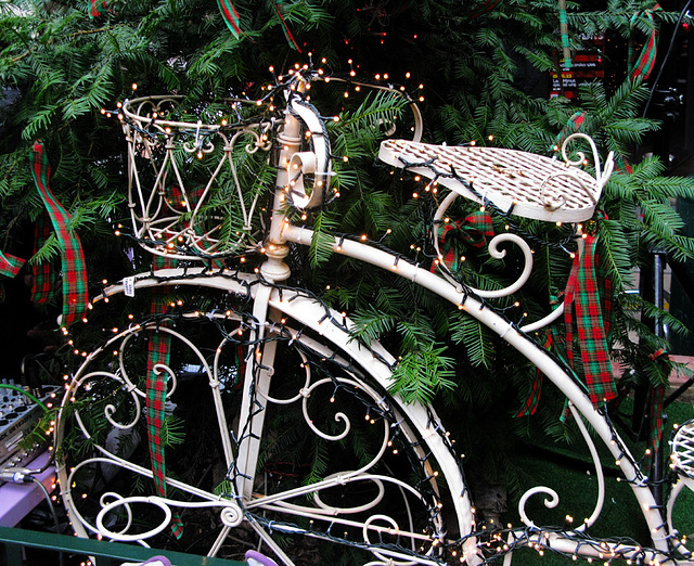 old bicycle.