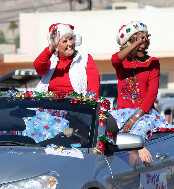 DHS Holiday Parade 2012 - Mayor Parks & Councilmember Pye (7769)
