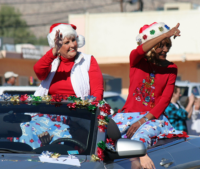DHS Holiday Parade 2012 - Mayor Parks & Councilmember Pye (7770)