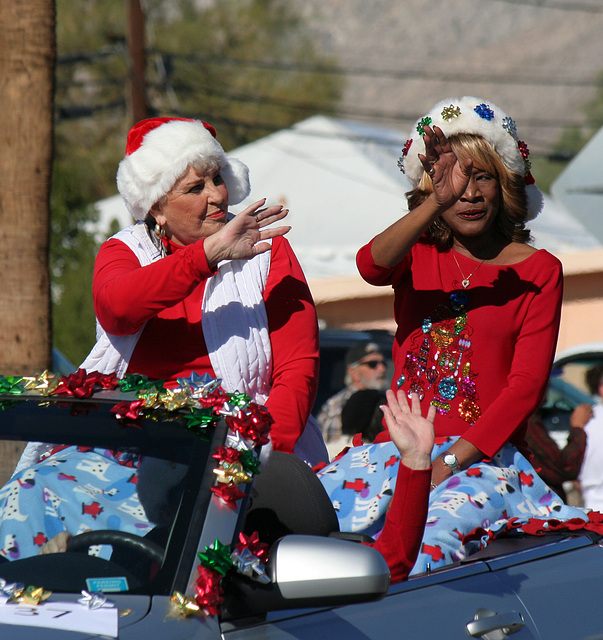 DHS Holiday Parade 2012 - Mayor Parks & Councilmember Pye (7772)