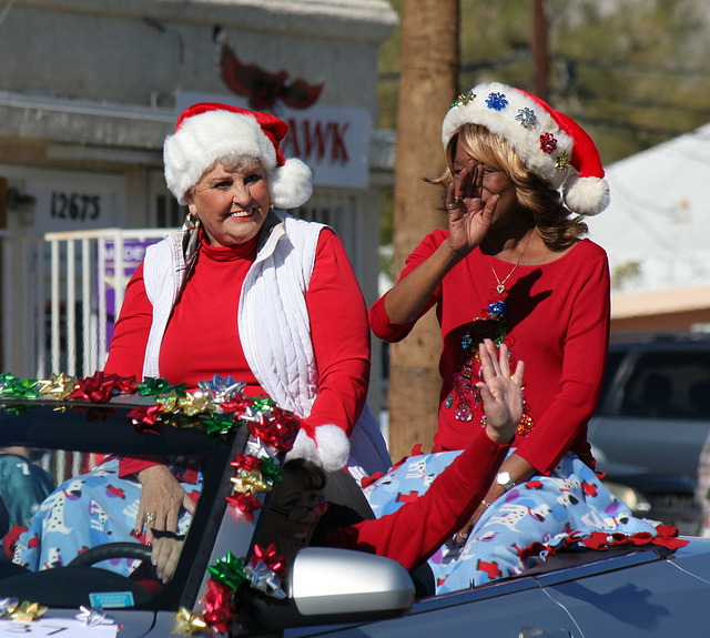DHS Holiday Parade 2012 - Mayor Parks & Councilmember Pye (7773)