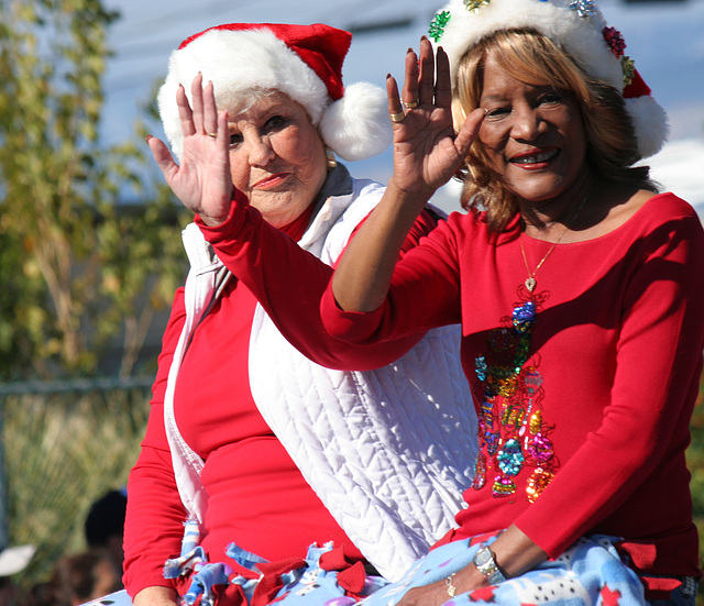 DHS Holiday Parade 2012 - Mayor Parks & Councilmember Pye (7783)