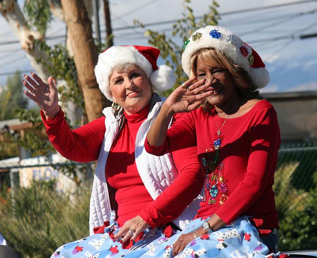DHS Holiday Parade 2012 - Mayor Parks & Councilmember Pye (7784)