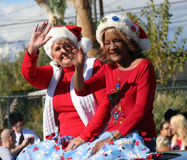 DHS Holiday Parade 2012 - Mayor Parks & Councilmember Pye (7785)