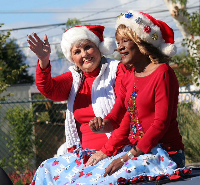 DHS Holiday Parade 2012 - Mayor Parks & Councilmember Pye (7787)