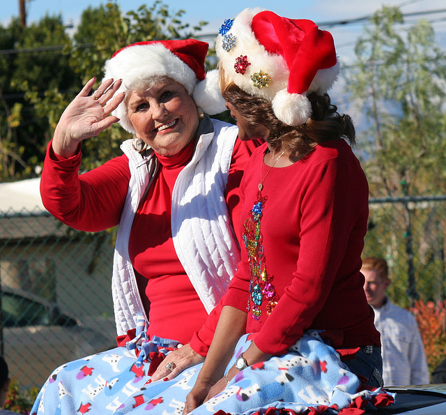 DHS Holiday Parade 2012 - Mayor Parks & Councilmember Pye (7789)