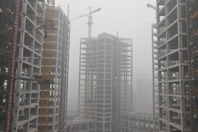 Serioza atmosfera poluado, januaro 29, 2013, la Pekina Okcidento Railway Station.  9