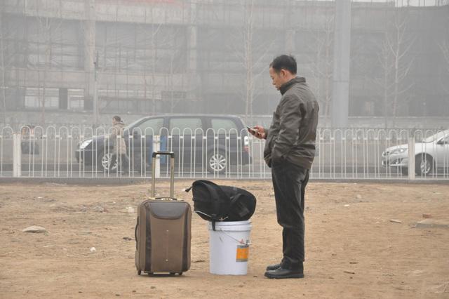 Serioza atmosfera poluado, januaro 29, 2013, la Pekina Okcidento Railway Station.  5