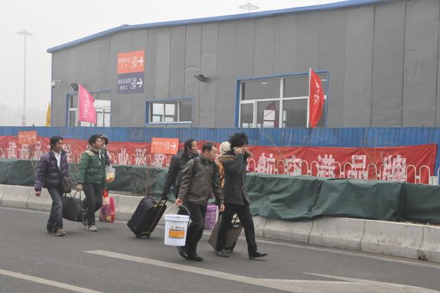 Serioza atmosfera poluado, januaro 29, 2013, la Pekina Okcidento Railway Station.  4