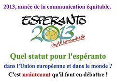 Quel statut pour l'espéranto ?