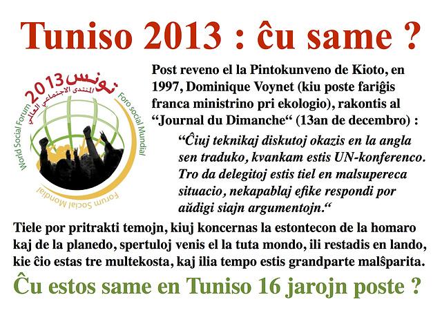 (EO) Monda Socia Forumo 2013, Tuniso