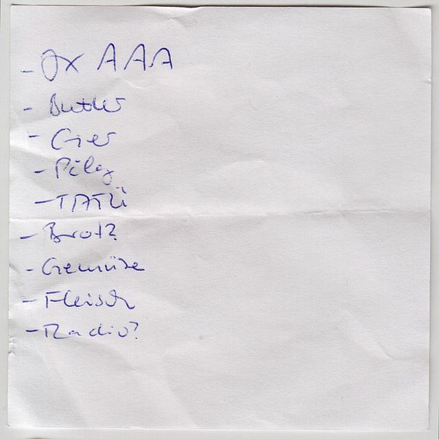 Shopping List 01
