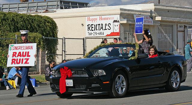 DHS Holiday Parade 2012 - Congressman Raul Ruiz - who was walking not riding (7741)