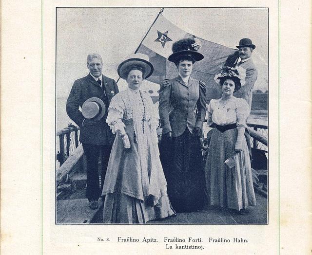 Operkantistinoj kontribuintaj al la programo de la 4-a UKo en Dresdeno (1908)