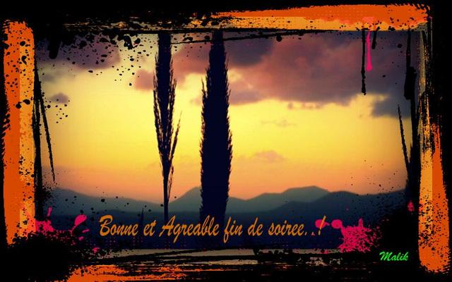 Bonne fin de soiree.!