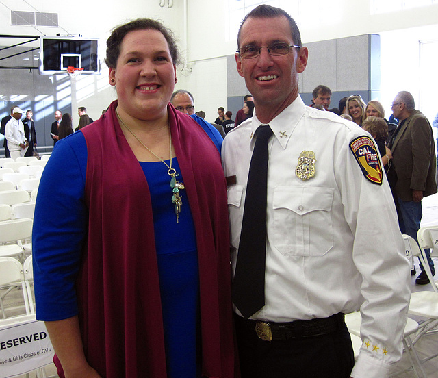 Olympian Sarah Robles & Fire Chief Pat Tomlinson (4073)