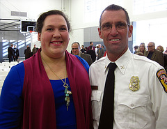 Olympian Sarah Robles & Fire Chief Pat Tomlinson (4074)