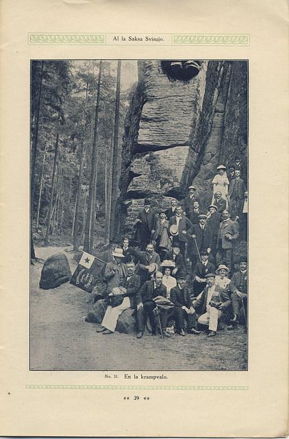 Gekongresanoj ekskursantaj el Saksa Svisujo