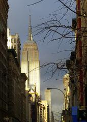 L'Empire State Building entre ombre et lumière