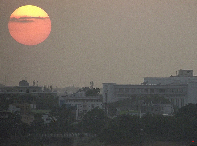 Sunset over Secunderabad