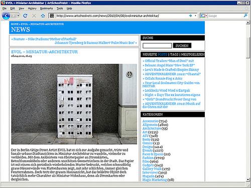 Webseite Evol-Mini-Architektur-2010