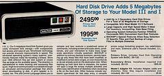1983 Radio Shack Catalog - Hard Disk Drive 5MB $2495