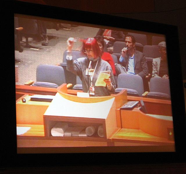 Carolyn Krause speaking at AQMD (4010)