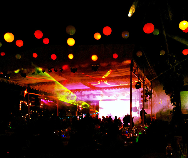 Lights  and laser