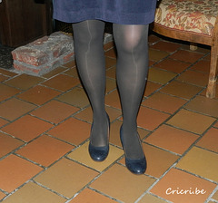 Christine /  Chaussures bleues à talons hauts / High-heeled blue shoes
