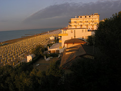 Sunset at Lido di Jesolo, Venetien, Italy