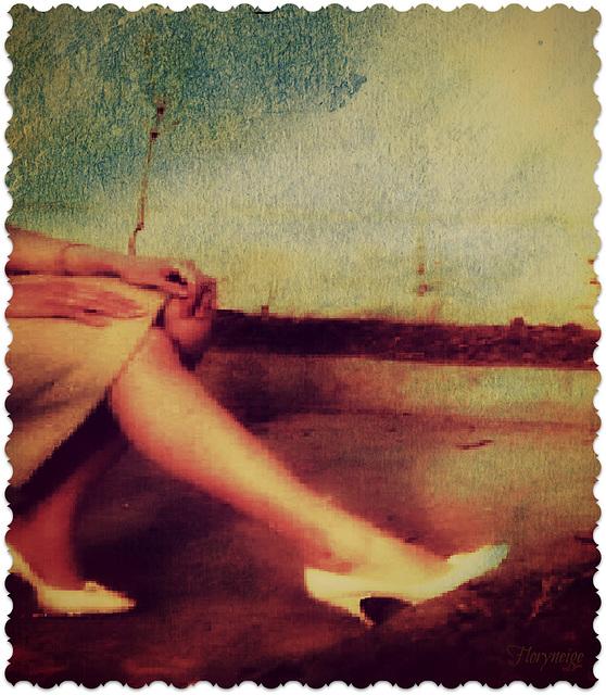 Floryneige - Timbre escarpins blancs / White heels stamp   - 27 octobre 2008