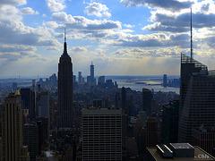 L'Empire State Building et Manhattan downtown
