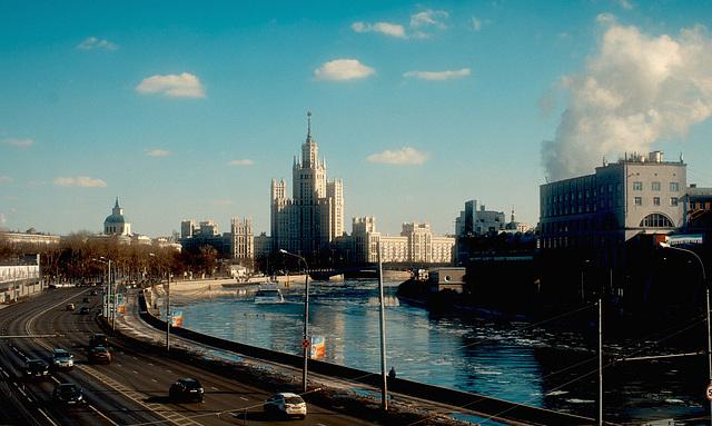 skyscraper in Moscow