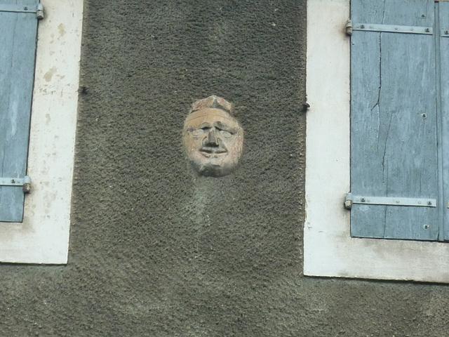 Sur un mur d'Alet les bains