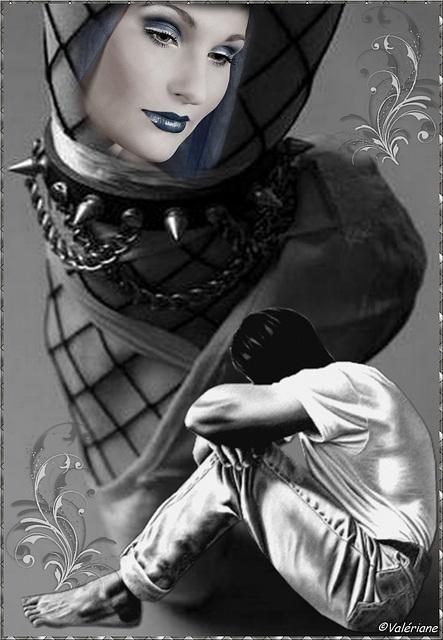 Au pied !  /  Yes Mistress !  Création Valériane.