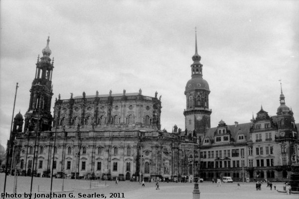 Residenzschloss and Hofkirche, Picture 2, Edited Version, Dresden, Saxony, Germany, 2011