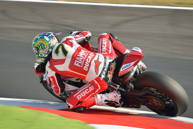 Chaz Davies on Ducati 1199 Panigale R
