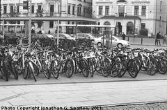 Bikes in Neustadt, Edited Version, Dresden, Germany, 2011