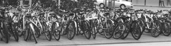 Bikes in Neustadt, Cropped Version, Dresden, Saxony, Germany, 2011