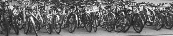 Bikes in Neustadt, Cropped Version 2, Dresden, Saxony, Germany, 2011