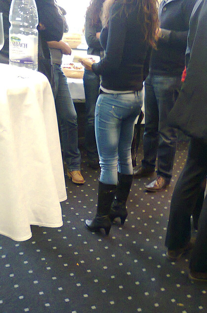 Jeans und Stiefel